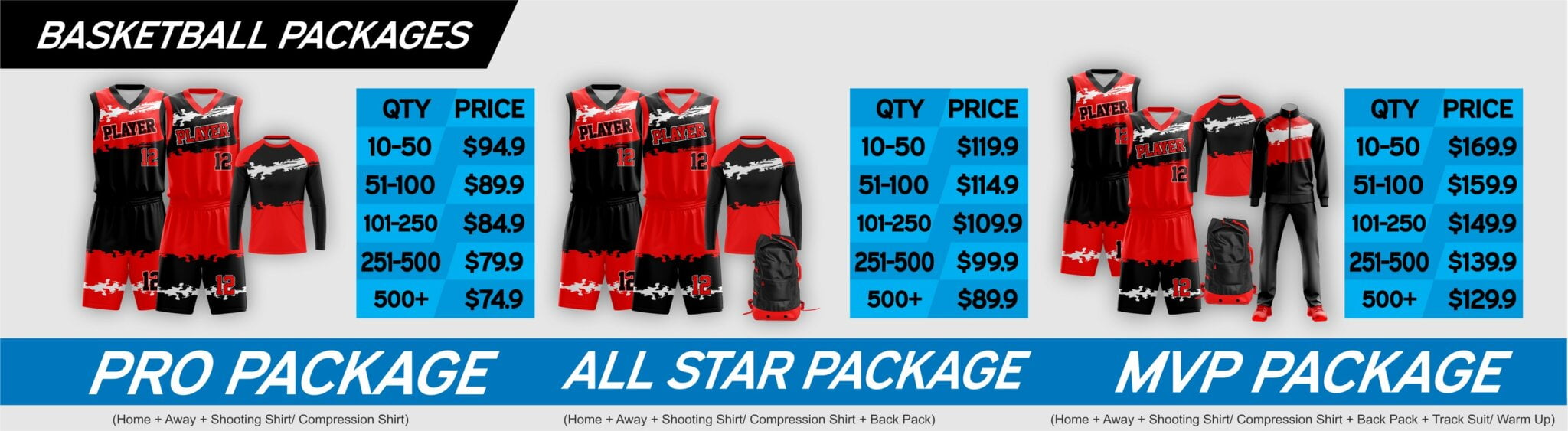 BASKETBALL PRICING BANNER